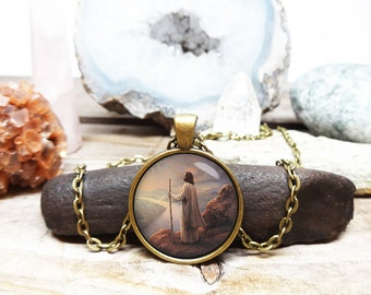 The Lord is My Shepherd Necklace Jesus Necklace Christian necklace bible jewelry bible story easter necklace jesus jewelry christian jewelry