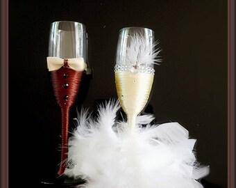 Flûtes champagne personnalisables pour votre jour J