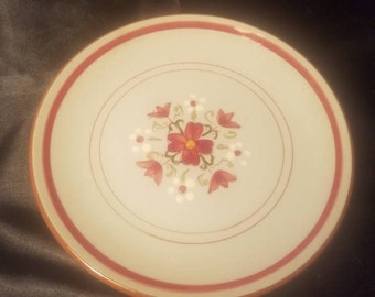 """Stangl Pottery """"Garland"""" Set of Four 6"""" Saucers"""