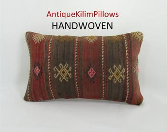Kilim Pillow Decorative Pillow Throw Pillow Rug Pillow Cover 12x20 Lumbar Cushion Pillow Case Home Decor Housewarming Gift For Women 153