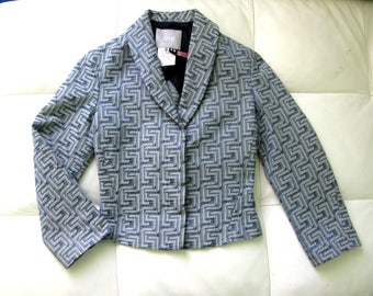 Versace Jeans Couture Blue Cropped Jacket Blazer