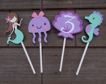 Under the Sea, Mermaid Cupcake Toppers