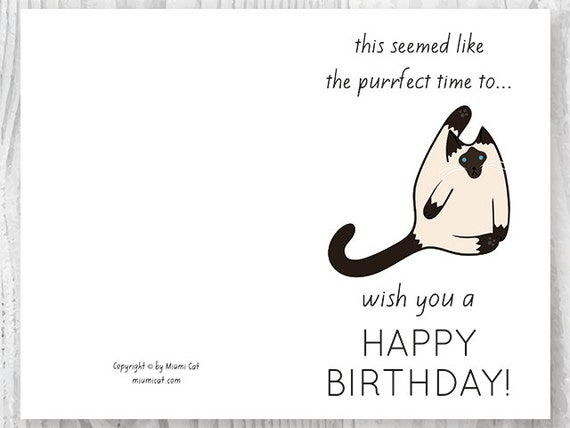 Funny birthday cards printables funny siamese cat birthday funny birthday cards printables funny siamese cat birthday cards printable cat card card digital download silly siamese cats bookmarktalkfo Gallery