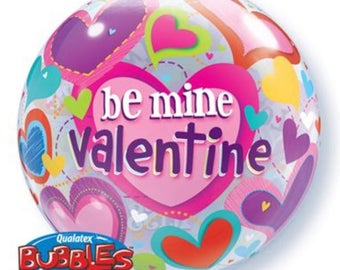 Valentines Day Balloon Bubble 55cm Party Decorations