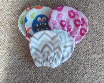 Set von 3 Paar, Baby, hand, Handschuhe, Neugeborenen-3 Monate, Geschenk, Dusche, Mädchen, Küsse, Monster, Chevron, Kleinkinder, Mädchen