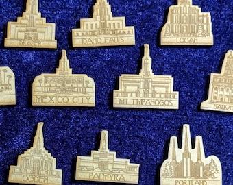 LDS Temple Tie Tacks / Pins
