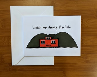 PNW Caboose Adventure Card // Adventure Greeting Card // Just Because Card