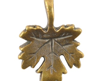 Casting Charm-16x22mm Maple Leaf-Antique Bronze-Quantity 1