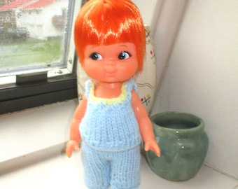 RARE 1960'S Japan Made Shiba Big Eye Doll