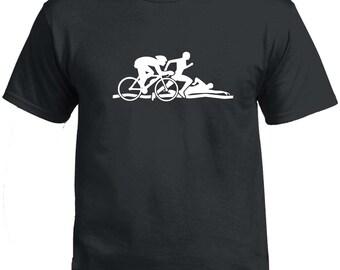 Triathlon Tshirt - Swim Cycle Run Tri cycling running ironman strava garmin