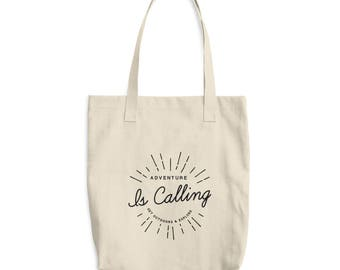 Canvas Tote Bag - Adventure and Outdoor Lovers Market Bag - Shopping Bag - Book Bag