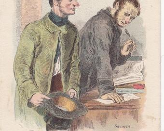 Paul Gavarni Les Humoristes De Jadis Circa 1910 Postcard