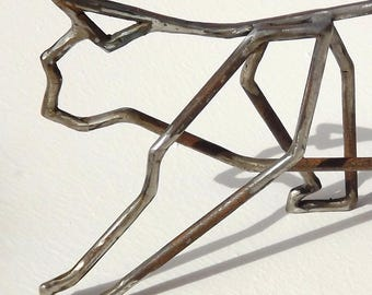 Cat free standing geometric steel statue, cat figurine, cat sculpture, cat wire art, cat metal decor, cat lover, cat gifts