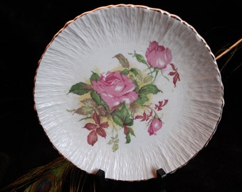 Colonial China Plate - East Liverpool, Ohio Rose pattern