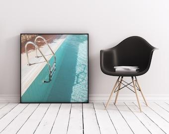 Swimming Pool Art, Minimalist Wall Art, Summer Print - Swimming Pool IV