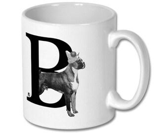 B for Boxer Dog Mug