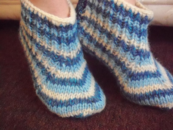 Green hand knit socks,long mohair,very thick bed socks, UK 4-12,US 5-13,EU 35-47.Kozizake.