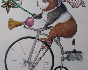 Bicycle Guinea Pig Print