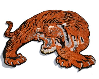 Big Tiger Embroidered patch, Back Tiger patch, Iron on patch, Large patch, Patches for jackets, Animal patch, Various sizes and colors