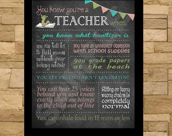 Teacher Chalkboard Typography