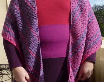 Purple-pink Moon Crescent shawl-scarf