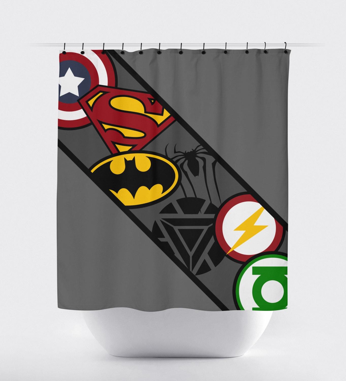 Superhero Shower Curtain Super Hero