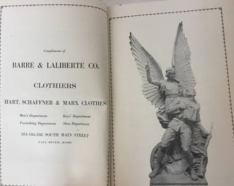 1920 Historical Booklet Dedication of Fall River MA Notre Dame Church Monument to WWI French Catholic Soldiers