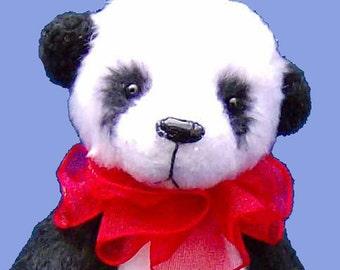 Mei-Lien Panda teddy bear e-pattern
