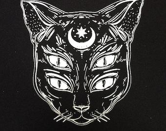 Cat soul patch   patches   cat patch   punk