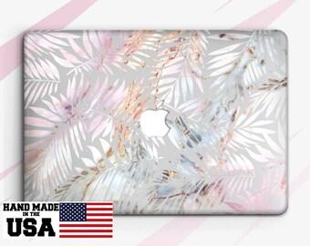 Tropical Leaves Macbook Case Marble Macbook Pro Case Macbook Air Case Macbook Air 13 Case Macbook Pro 15 Case Macbook 12 Case Leaves RA2042