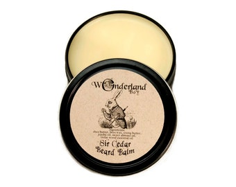 Sir Cedar Beard Balm, All Natural Beard Balm, Beard Grooming, Beard Wax, Beard Care, Gift For Him, Wonderland Boy, Alice in Wonderland