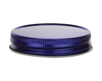 12 pcs Royal Blue Mason Jar Lid for Regular Mouth Mason Jars- BPA Free, Plastisol Lined