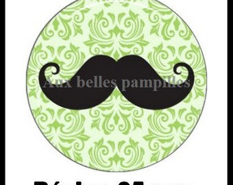 Cabochon resin 25 mm (66) - mustache - stick