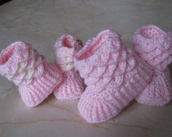 Made to Order Crocodile Stitch Baby Booties