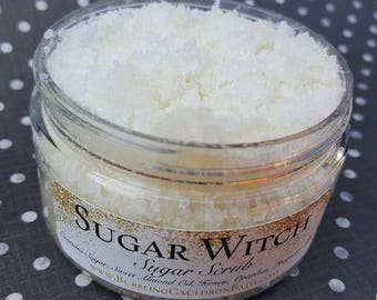 Sugar Witch Body Scrub - Exfoliating Sugar Scrub - Vanilla Sugar Scrub