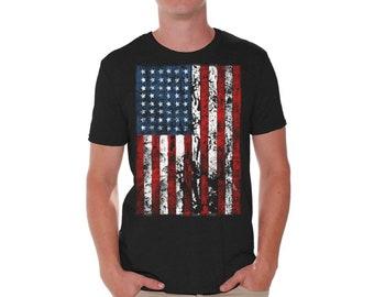 American Flag Shirt. America Shirts for Men. America T-Shirt. Patriotic Shirt. 4th of July Tee.