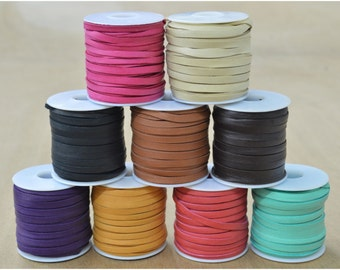 "Deerskin Lace Spool 3/16"" x 50' Leather lacing 3 ounce thickness CHOOSE COLOR-The Leather Guy"