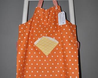 Nice child apron orange