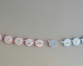 Princess or Prince Baby Reveal Banner