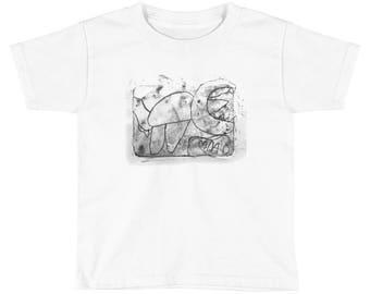 Dino Squad, Monotype Artwork - Kids Short Sleeve T-Shirt