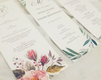 Wedding Ceremony Program Cards