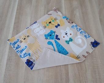Napkin fabric customizable name cats.