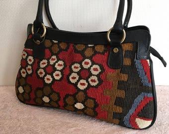 30% OFF FREE Shipping, Kilim bag, boho chic bag, Shoulder bag, Handbag, handbag