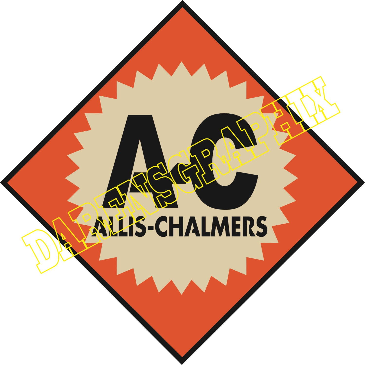 Dxf file of the allis chalmers logo for use with a cnc machine zoom buycottarizona Gallery