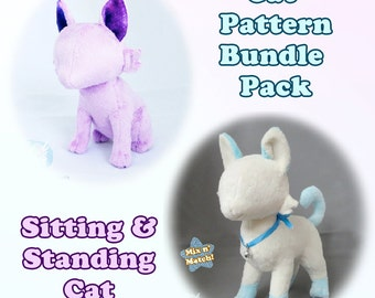 Cat Plush Sewing Pattern Bundle Pack PDF Download