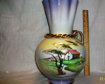 Listing 108 is the unique collectable porcelain vase 24ct gold trim made in italy
