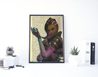 Sombra Poster, Overwatch Sombra, Overwatch Poster, Sombra Overwatch, Video Game Posters, Hacker, Gamer Wall Art, Gifts for Gamers