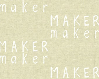 Maker Maker Fabric in Neutral (ALN-8453-N) - HALF Yard - by Sarah Golden for Andover Fabrics