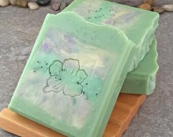Bamboo Sweetgrass Scented Decoarative Artisan Soap