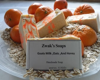 Goats Milk, Oats, And Honey Soap